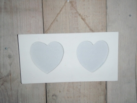 Fotolijst dubbel hart