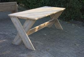 (Tuin)tafel gekruiste poten