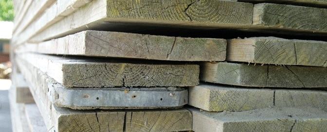 Steigerhout geschuurd (afhalen in Lopik)