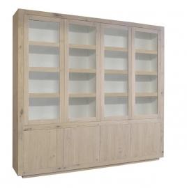 Glaskast Helder 8 deurs 250 cm
