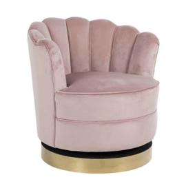 Draaifauteuil Mila velvet pink