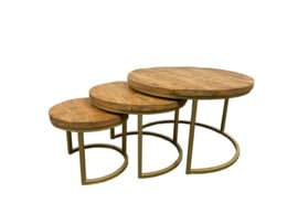 Golden trio salontafel set