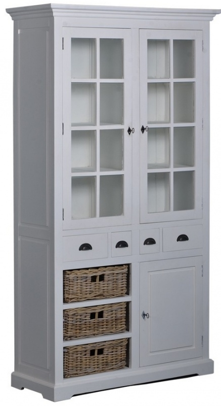 Napoli Cabinet/glaskast 3 manden 4 lades