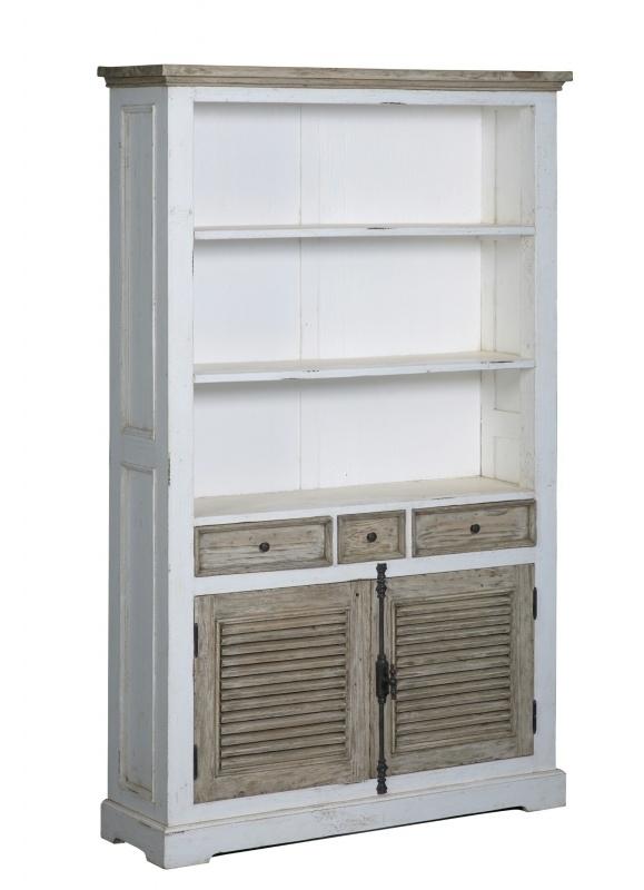 Boekenkast Amanda, met 2 deuren en 3 laden