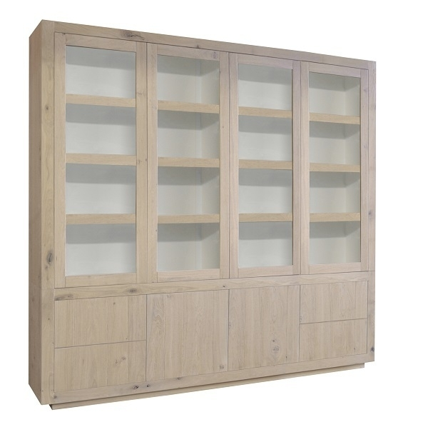 Glaskast Helder 6 deurs 250 cm