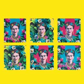 Frida Kahlo onderzetters (set van 6)
