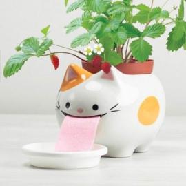 Zelfwaterende plantenpot kat
