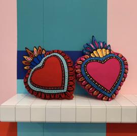 Kitsch Kitchen kussen Milagro Heart Red
