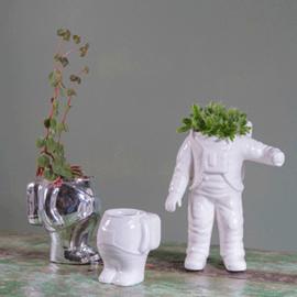 Planter astronaut L  white