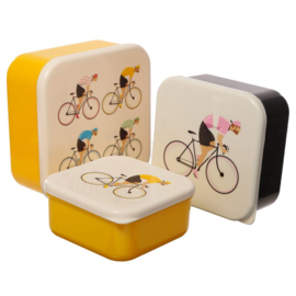 Cycle Works Bicycle lunchboxes (set van 3)