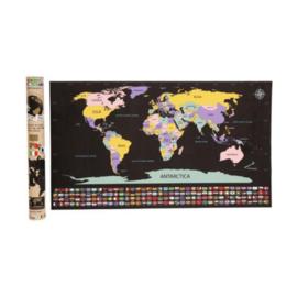 Scratch world map  met vlaggen