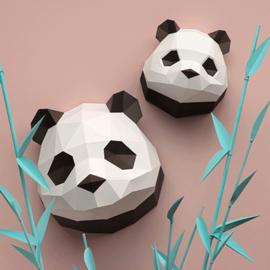 Assembli papieren Panda baby