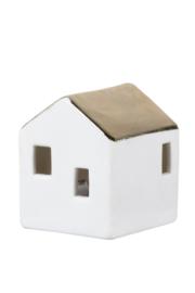 Porseleinen huisje met LED verlichting