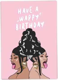 Kaart Blanche 'Wappy Birthday'