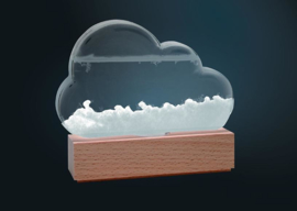 Storm Cloud Weather Predicting Glass