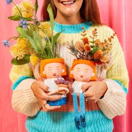 Plant mum vase with mini planter
