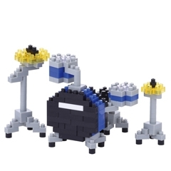 Nanoblock Drum set blue  NBC-172