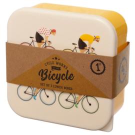 Cycle Works Bicycle lunchboxes (set van 3)