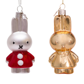 Nijntje ornament set  Santa Dress &  Shiny gold