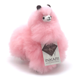 Knuffel alpaca S pink limited edition