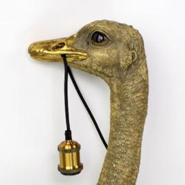 Wandlamp struisvogel