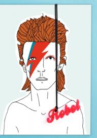 Kaart 'David Bowie met Acryl Hanger'