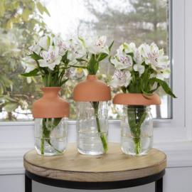 Kikkerland terracotta vase tops
