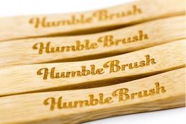 Eco tandenborstel bamboe wit (adult)