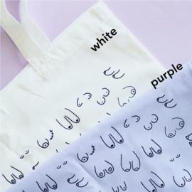 Titties tote bag (verkrijgbaar in 4 kleuren)