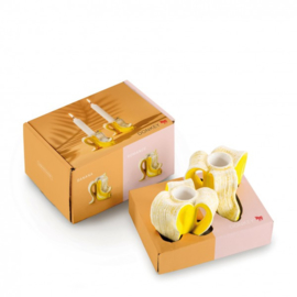 Kaarsenstandaard banaan (set van 2)