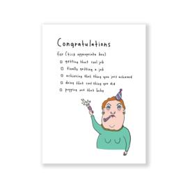 Eat Mielies card  'Congratulations'