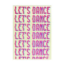 "Ohh deer print ""Let's dance"" A3"