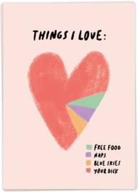 Kaart Blanche 'Things I Love'