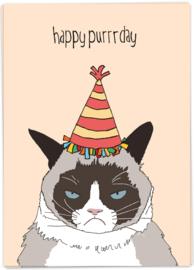 Kaart Blanche 'Happy Purrrday'