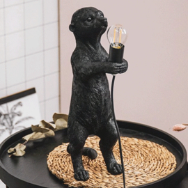 House vitamin Stokstaartje lamp zwart