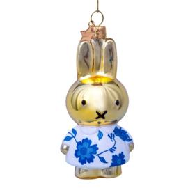 Nijntje ornament  Delft blue gold