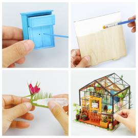 Robotime DIY house;  Cathy's flower house