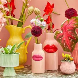 Vaas roze lippen