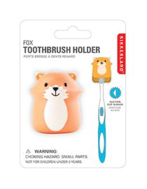 Kikkerland tandenborstelhouder vos