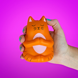 Stress toy orange cat