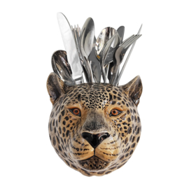 Quail leopard wall vase M