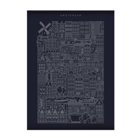 The City Work Amsterdam blue print A3