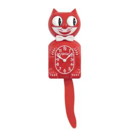 Original Kit Cat clock scarlet red