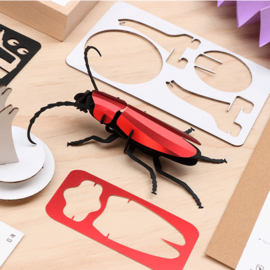Assembli 3D Rosalia beetle red