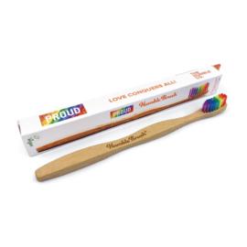 Eco tandenborstel bamboe regenboog