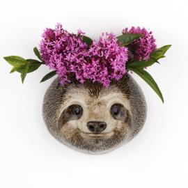 Quail sloth  wall vase S