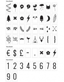 Lightbox symbol set - Numbers & Symbols