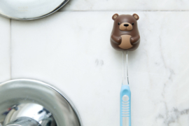 Kikkerland tandenborstelhouder beer