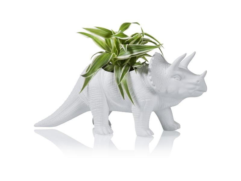 Dinosaurus plantenpot triceratops