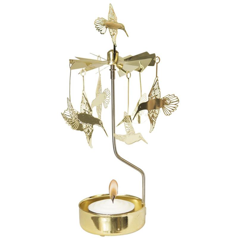 Waxinelichthouder Kolibri Goud